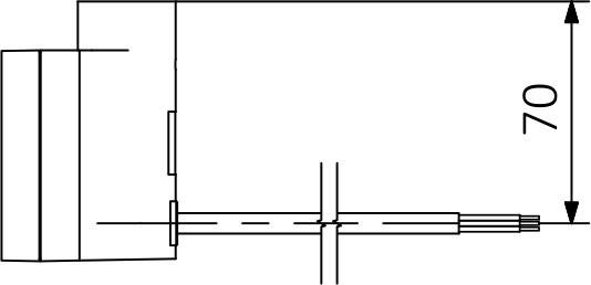 P - Přímý kabel bez zástrčky