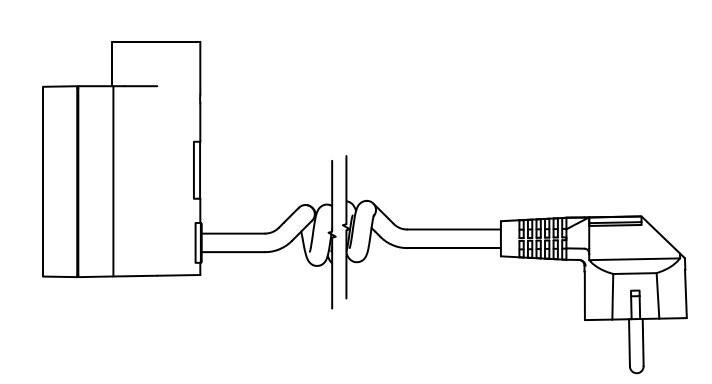 U - Kroucený kabel se zástrčkou