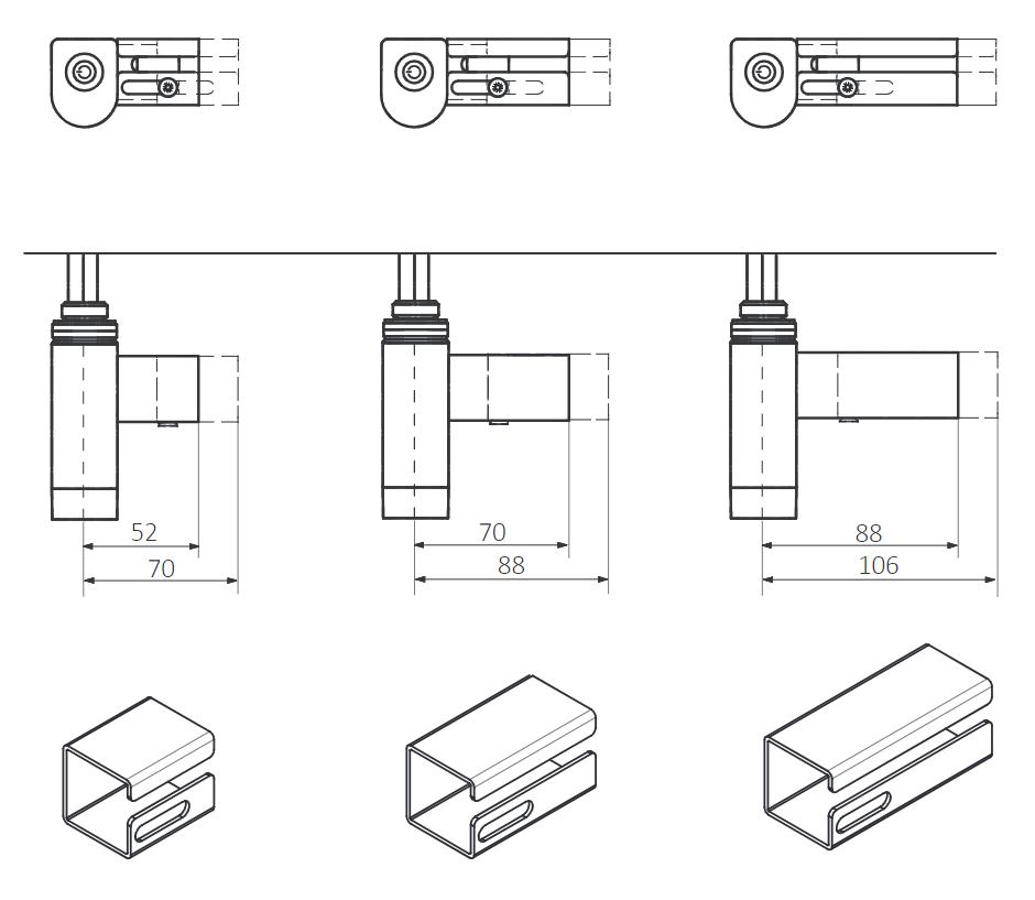 <p>M - Přímý kabel do zdi bez zástrčky 1,5m s krytem (standardní délka krytky: 52-70 mm)</p>