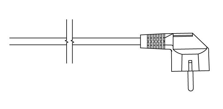 <p>W -rovný kabel se zástrčkou</p>